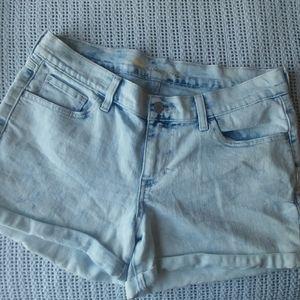 Old Navy Boyfriend Acid Wash Cuff Hi Rise Shorts